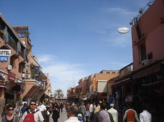 Le centre de Marrakech